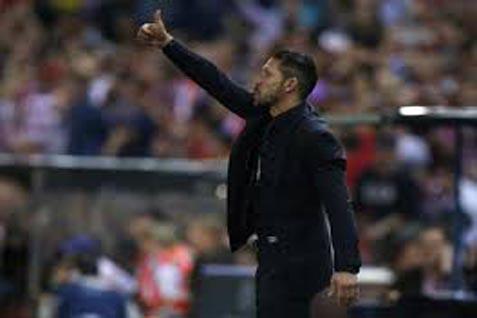 Diego Simeone (pelatih Atletico Madrid) - Reuters
