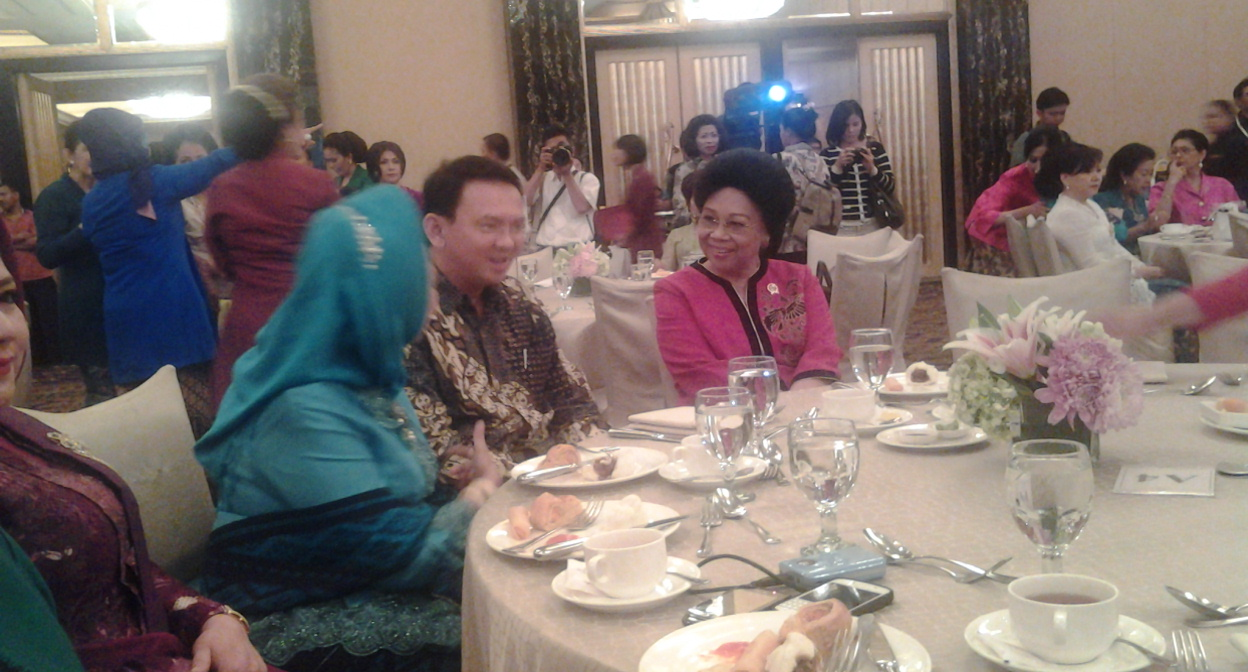 Wakil Gubernur DKI Jakarta Basuki Tjahja Purnama dan Menkes Nafsiah Mboi