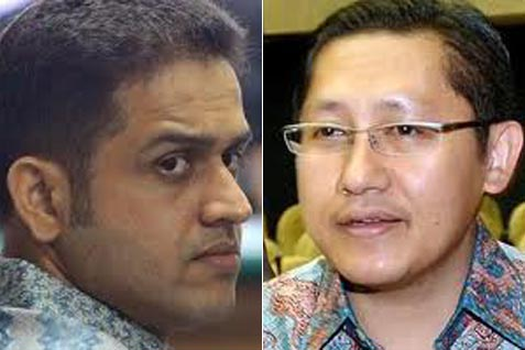 Nazaruddin dan Anas Urbaningrum - Antara