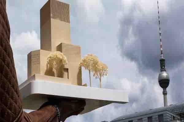 Maket rumah ibadah tiga agama atap yang akan dibangun di Berlin/mirroruk - created YUS
