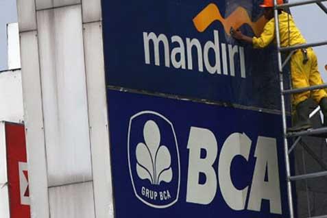 Papan reklame bank nasional. Laba tumbuh 11,92% pada posisi Mei 2014 - Bisnis