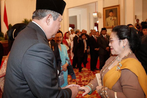 Presiden SBY dan Mantan Presiden Megawati - Antara