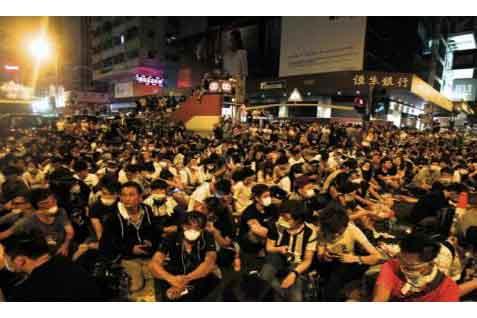 Aksi unjuk rasa di Hong Kong - Bisnis