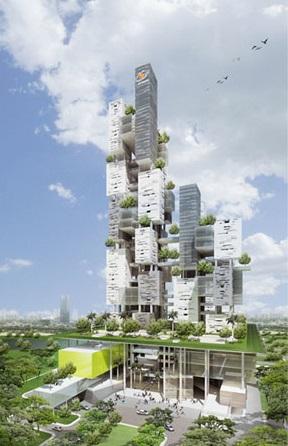 Maket Gedung Bina Nusantara di Alam Sutera Kota Tangerang. - skyscrapercity.com