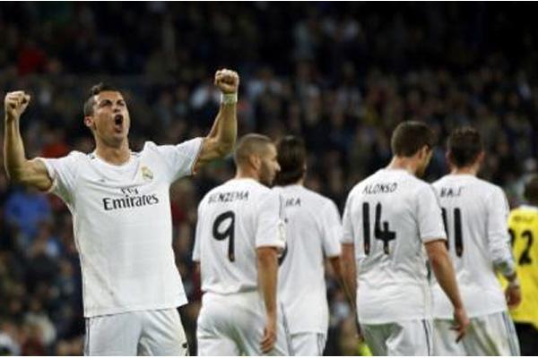 Ronaldo dkk saat merayakan gol - Reuters