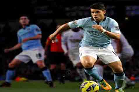 Sergio Aguero, pencetak 14 gol, terbanyak di Liga Inggris 6 Desember 2014 - Reuters