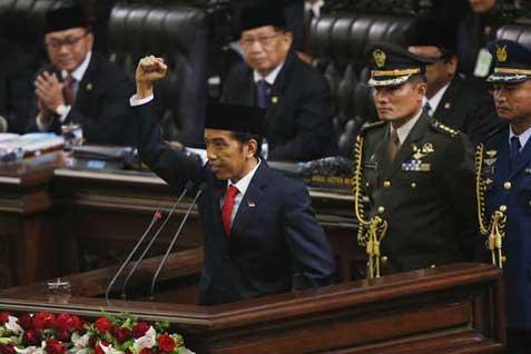 Pidato pertama Jokowi sebagai Presiden RI -  Reuters