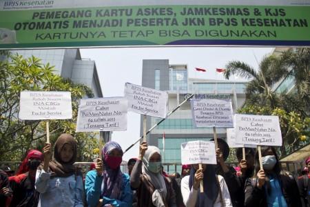 Ilustasi Aksi Demonstrasi BPJS - Antara