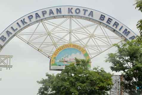Ilustrasi gerbang Kota Balikpapan