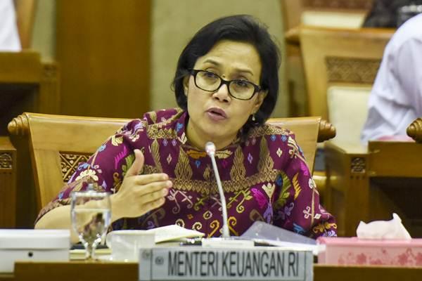 Menteri Keuangan Sri Mulyani Indrawati saat rapat kerja dengan Komisi VI DPR di Kompleks Parlemen, Senayan, Jakarta, Rabu (24/8/2016). - Antara/Hafidz Mubarak A