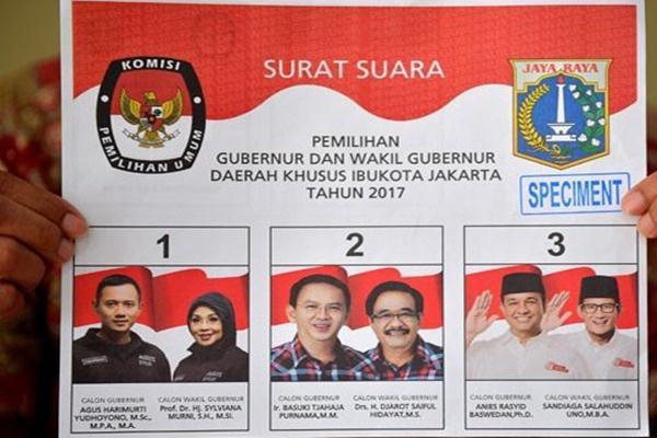 Surat suara Pilkada DKI 2017 - Antara
