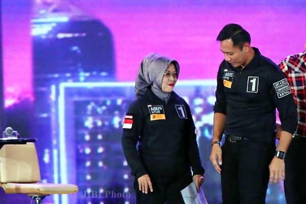 Pasangan Calon Gubernur dan Wakil Gubernur DKI Jakarta nomor urut 1 Agus Harimurti Yudhoyono (kiri)-Sylviana Murni. - JIBI/Dwi Prasetya
