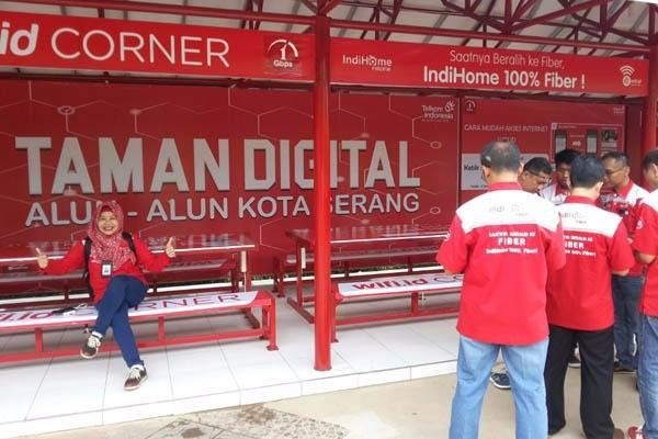 Taman Digital di Serang hasil kerjasama Telkom dan Pemkot Serang - Lahyanto Nadie