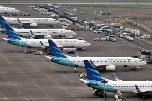 Pesawat Garuda Indonesia - JIBI/Abdullah Azzam