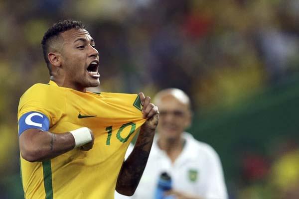Striker dan kapten Timnas Brasil Neymar da Silva Jr. - Reuters/Bruno Kelly