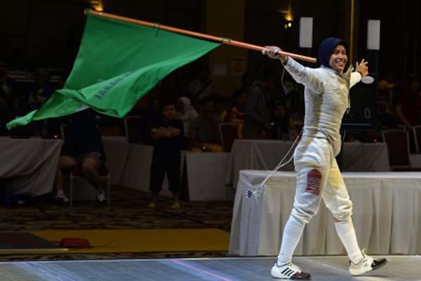 Atlet anggar Kalbar Verdiana Rihandini - Antara/Sigid Kurniawan