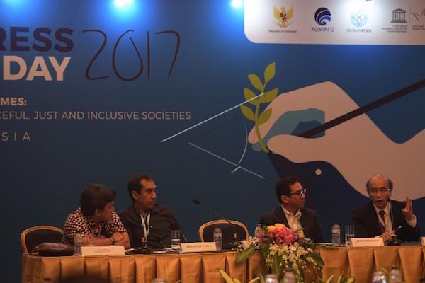 Lokakarya Jurnalisme Berkualitas untuk Bisnis Pers yang Berkelanjutan  - Antara/Sigid Kurniawan