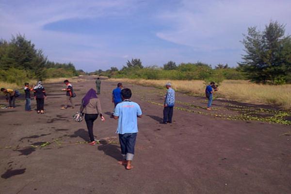 Bandara Pulau Panjang di Kepulauan Seribu - beritajakarta