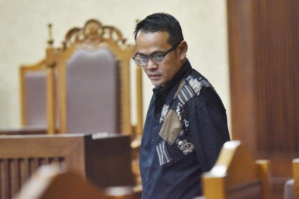 Direktur PT Merial Esa Fahmi Darmawansyah yang juga suami artis Inneke Koesherawati dalam sidang lanjutan kasus suap Bakamla di Pengadilan Tipikor, Jakarta - Antara/Wahyu Putro A