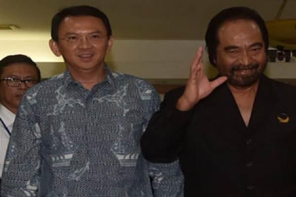 Basuki Tjahaja Purnama (Ahok) dan Ketua Umum Partai Nasdem Surya Paloh - Antara