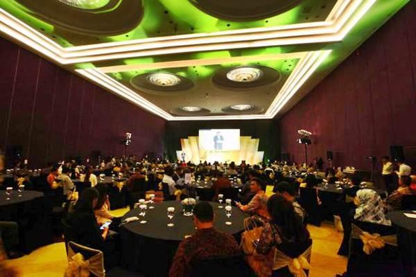 Suasana acara Bisnis Indonesia Award (BIA) di Jakarta, Senin (15/5). - JIBI/Dwi Prasetya