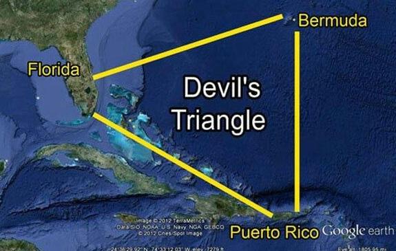 Segitiga Bermuda adalah area perairan di Samudra Atlantik Utara di mana sejumlah besar pesawat dan perahu hilang secara misterius.