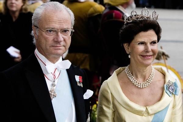 Raja Carl XVI Gustaf dan Ratu Sylvia dari Swedia. - Istimewa