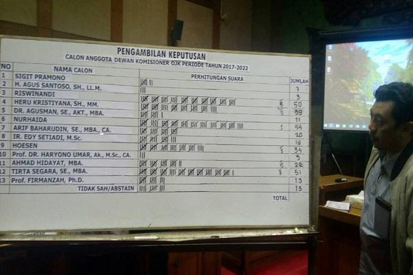 Hasil pemilihan anggota dewan komisioner Otoritas Jasa Keuangan - Bisnis/Surya Rianto