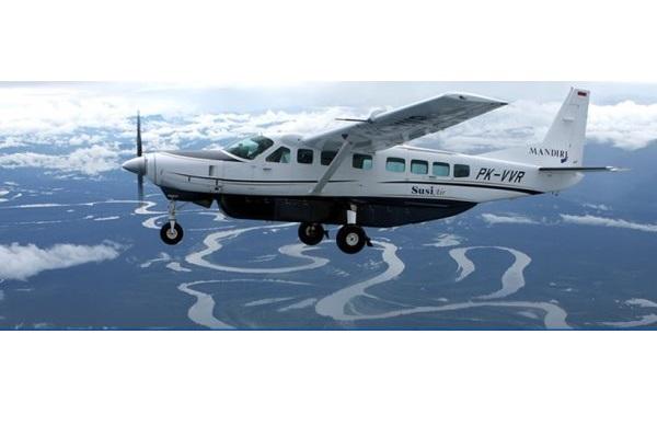 Ilustrasi-Cessna Grand Caravan Commute milik Susi Air - susiair.com