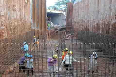 Kegiatan pembangunan underpass. Ilustrasi - JIBI