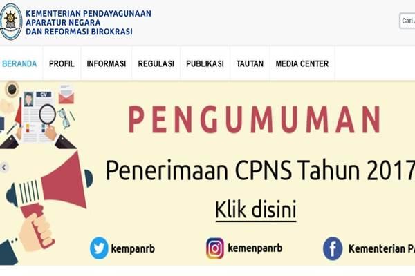 Pemerintah membuka penerimaan CPNS untuk tahun 2017. - Menpan.go.id