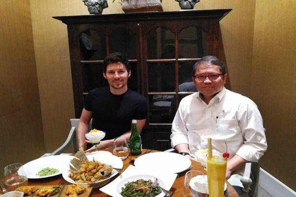 Pavel Durov dan Rudiantara dari Twitter rudiantara_id