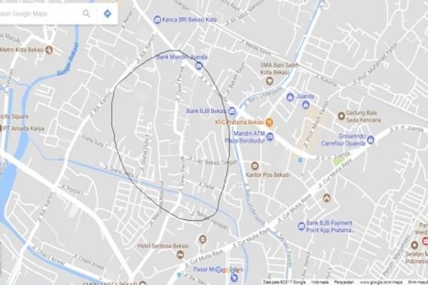 Jalan Dewi Sartika di Bekasi Timur berubah jadi Jalan Dewi Sartika di Google. - Antara
