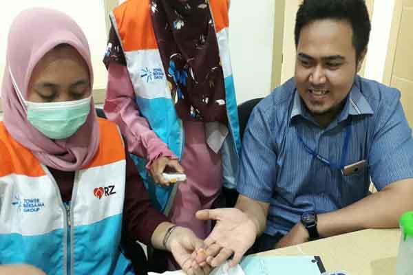 Pelayanan kesehatan gratis oleh PT TBIG Kalimantan