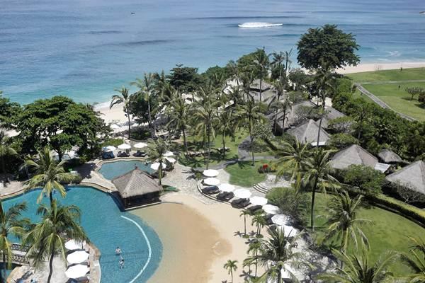 Suasana di sebagian area the Hilton Bali Resort, di kawasan Nusa Dua, Bali, Kamis (2/3/2017). - Reuters/Nyimas Laula