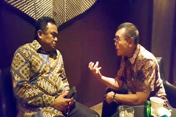 Rachmat Gobel dan Charles Saerang. - Chamdan Purwoko