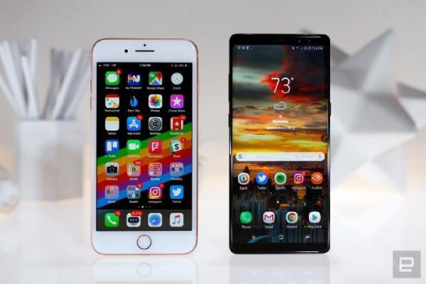 iPhone 8 Plus dan Samsung Note 8