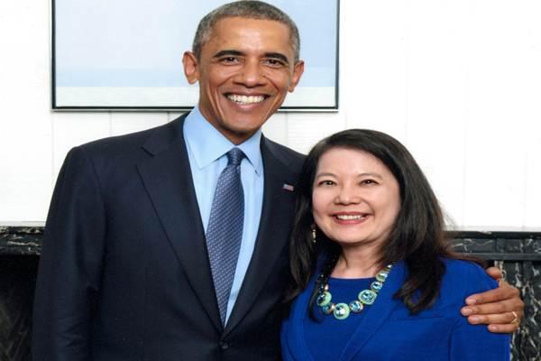 Julia Gouw dan Barrack Obama - Istimewa