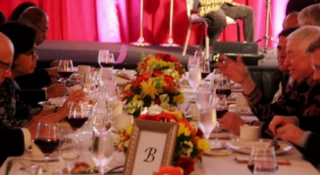 Menteri Keuangan Sri Mulyani Indrawati dan EO Freeport McMoRan Richard Adkerson dalam gala diner The Voyage to Indonesia 2018  di Washington