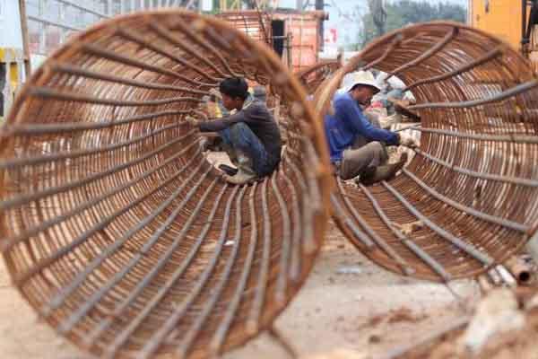Pembangunan jalan tol. - JIBI/Nurul Hidayat