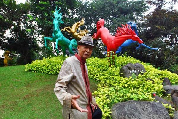 Chairman Ciputra Group, Ciputra, di Jakarta, Senin (14/8/2017). - JIBI/Dwi Prasetya