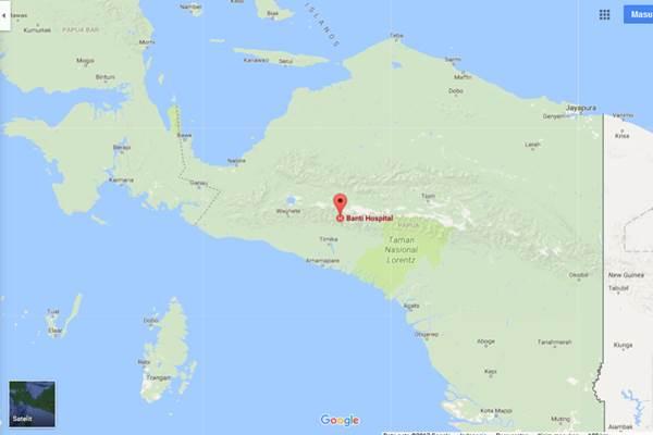 Peta Mimika - googlemaps