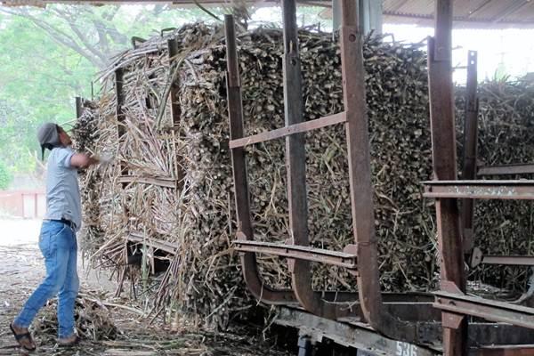 Batang tebu memenuhi Pabrik Gula (PG) Mojo di Sragen, Jawa Tengah, milik PT Perkebunan Nusantara IX (Persero), Selasa (18/7/2017). - JIBI/Ilustrasi