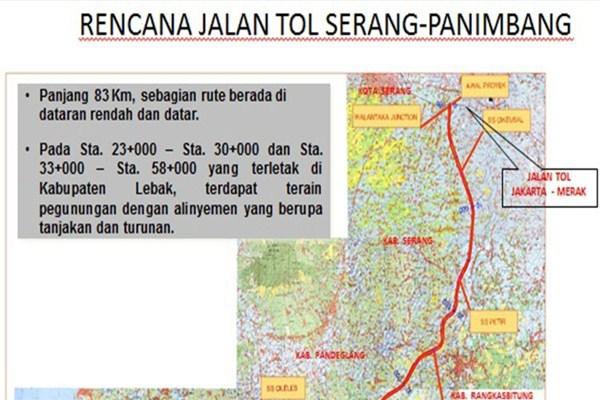 Peta Tol Serang-Panimbang - IST