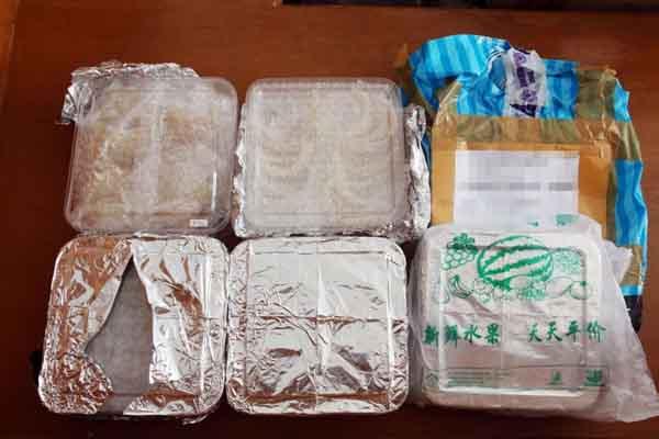 Barang bukti sarang burung walet yang akan dibawa ke China - Istimewa