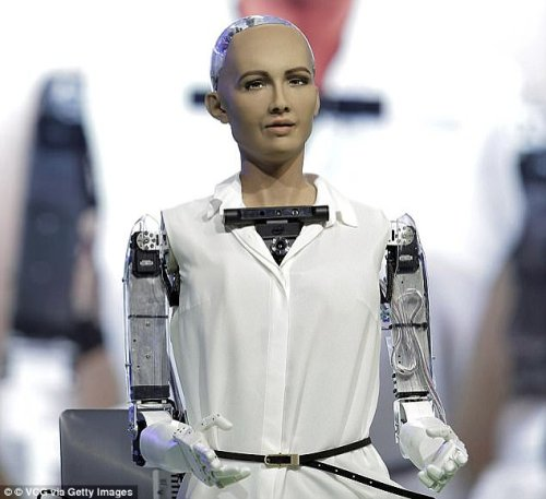 Robot Sophia - Daily Mail
