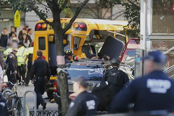 Serangan truk di New York - Bloomberg