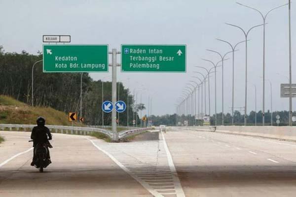 Jalan tol ruas Bakauheni - Terbanggi Besar di Lampung. - Antara