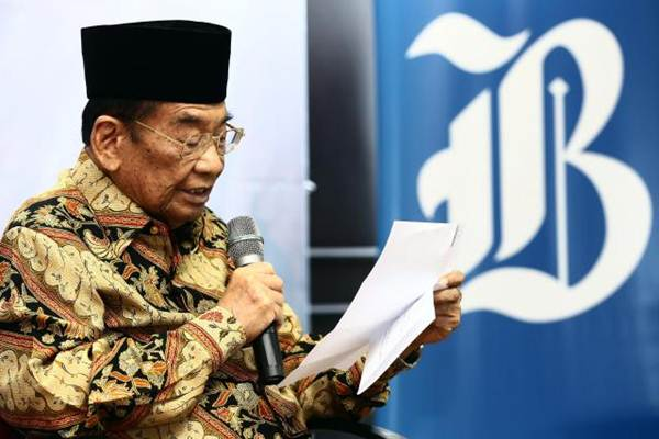 Presiden Komisaris PT Jurnalindo Aksara Grafika Prof Dr Sukamdani S. Gitosardjono