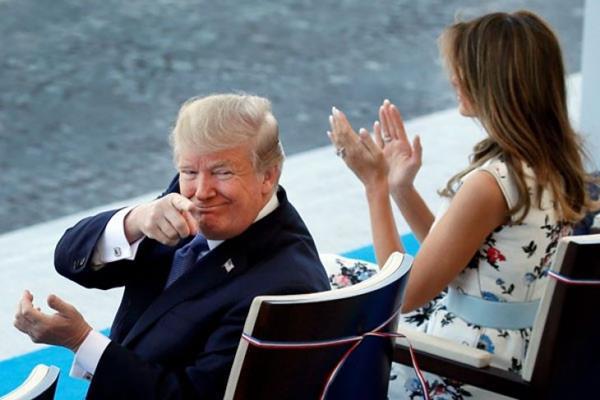 Presiden Amerika Serikat Donald Trump menimbang spekulasi panas soal potensi Oprah Winfrey mengikuti pemilihan presiden tahun 2020. - Reuters